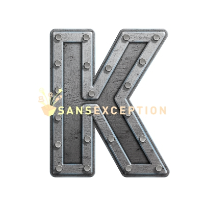 Metal Block Letters Captivating Initial Letter K Metal Hatch Effect Block Of Steel 2D Very Design Inspiration