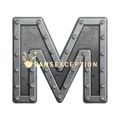 Metal Block Letters Captivating Initial Letter M Metal Hatch Effect Block Of Steel 2D Very Design Inspiration