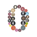number 0 sewing button clothing
