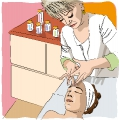 aesthetician woman take care with a client