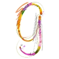 letter initial G color of summer ultra realistic