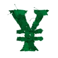 letter initial YEN green color leaves ultra realistic