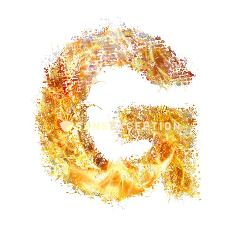 initial letter G flames on flames ultra realistic - letters ...