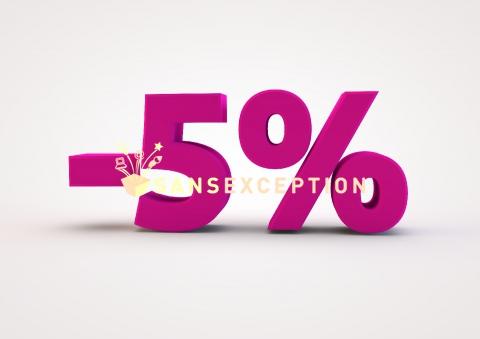 Resultado de imagem para 5% off