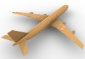 wooden toys famous boeing 747 c